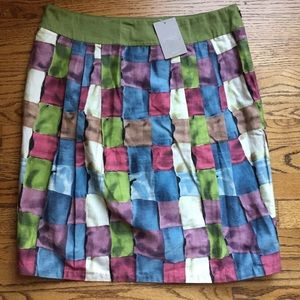 NWT Anthropologie IPSA Stained Glass Cube Skirt 10